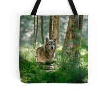 Timberwolf in Forest Tote Bag