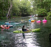Kayaking on Ginnie Spring, Florida by Stacey Lynn Payne