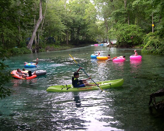 Kayaking on Ginnie Spring, Florida by Stacey Lynn Payne