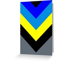 V-Lines Blue Style Greeting Card