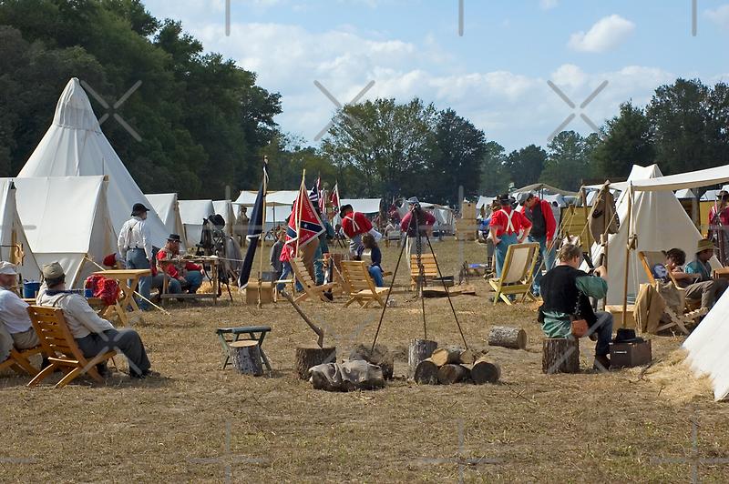 Civil War Camp by Stacey Lynn Payne