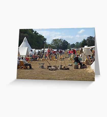 Civil War Camp Greeting Card
