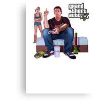 GTA V - Real Life Illustration Canvas Print