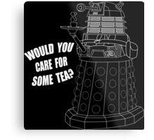 Dalek Cuppa Metal Print