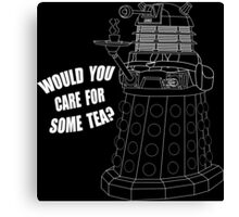 Dalek Cuppa Canvas Print