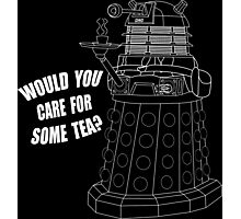 Dalek Cuppa Photographic Print