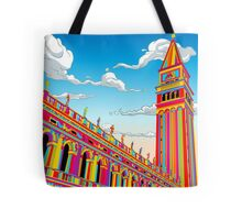 Saint Mark Bell Tower in Rainbow Tote Bag