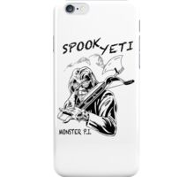 Spook Yeti, Monster P.I. iPhone Case/Skin