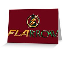 The Flash and Arrow (Team Flarrow) Greeting Card