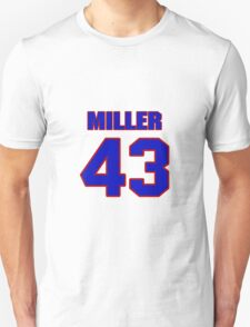 National football player Justin Miller jersey 43 T-Shirt