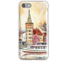 Sunset Over Lindau On Lake Constance iPhone Case/Skin