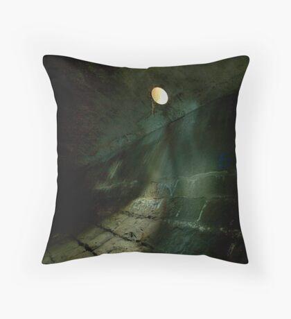 Subterranean Moon Throw Pillow