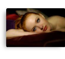 The Beauty of Jessamyn Series Portrait 2 Canvas Print