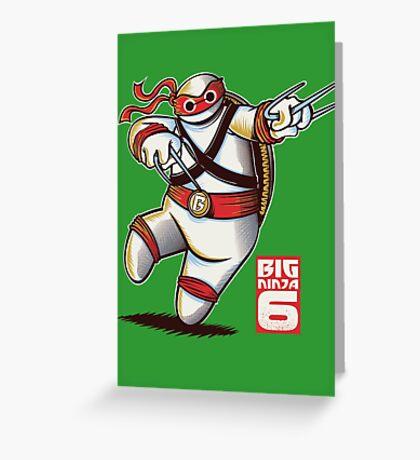 BIG NINJA 6 Greeting Card