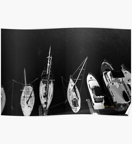 Boats Below Poster