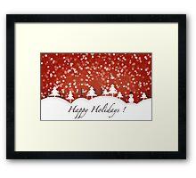Happy Holidays! Framed Print