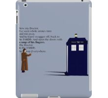 Doctor Who TARDIS River Song Quote iPad Case/Skin
