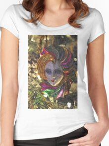 Mardi Gras Mask Women's Fitted Scoop T-Shirt