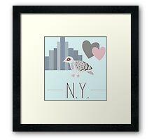 New York Love Framed Print