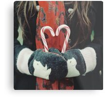 Candy cane love Metal Print