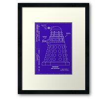 Bracewell's Ironside (Dalek) Blueprints Framed Print