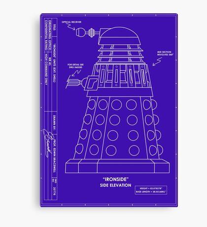 Bracewell's Ironside (Dalek) Blueprints Canvas Print