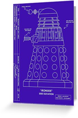 Bracewell's Ironside (Dalek) Blueprints by metallikunt