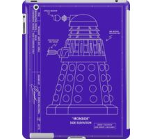 Bracewell's Ironside (Dalek) Blueprints iPad Case/Skin