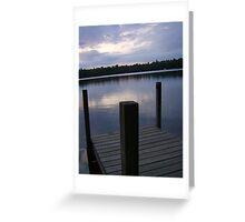 Lakeside Serenity Greeting Card