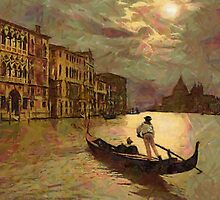 Grand Canal, Venice, Italy 19th century by Dennis Melling