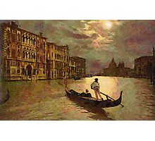 Grand Canal, Venice, Italy 19th century - all products bar duvet Photographic Print