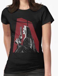 Nun With a Gun Womens Fitted T-Shirt