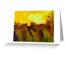 End of the Summer sunset Greeting Card