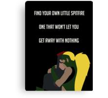Find Your Own Little Spitfire v2 Canvas Print