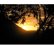 Sunrise on the path Photographic Print