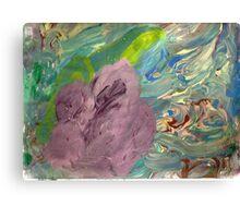 Purple surrouded by color Canvas Print
