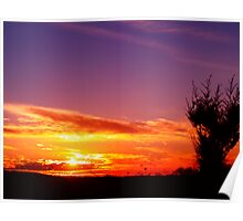 Glowing Sunset Poster