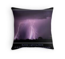 Summer Lightning Storm 2 Throw Pillow
