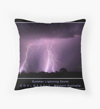 Summer Lightning Storm 2 Throw Pillow