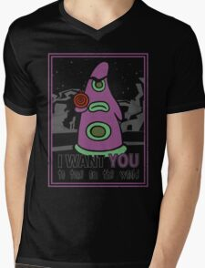 Uncle Purple Mens V-Neck T-Shirt