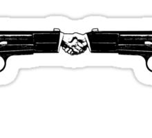 War and peace (Hand Guns) Sticker