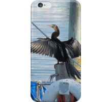 Cormorant hero pose iPhone Case/Skin