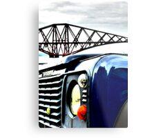 SUV in front of Forth Rail Bridge Metal Print