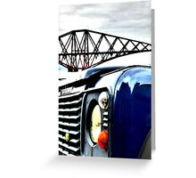 SUV in front of Forth Rail Bridge Greeting Card