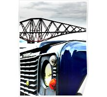 SUV in front of Forth Rail Bridge Poster