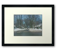 The next day Framed Print