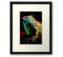 Iguana From The Deep Framed Print