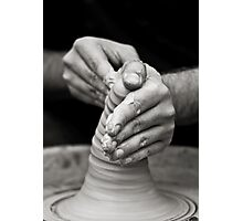 hands of worker Photographic Print