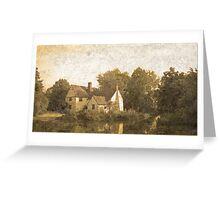Willie Lott's Cottage antiquated process Greeting Card