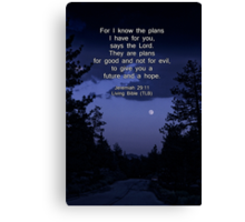 Bible Verse: Jeremiah 29:11 Words of Hope for the Future Canvas Print